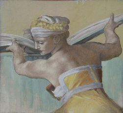 """Libyan Sibyl"" painting after Michael Angelo by Adrian Dodd"